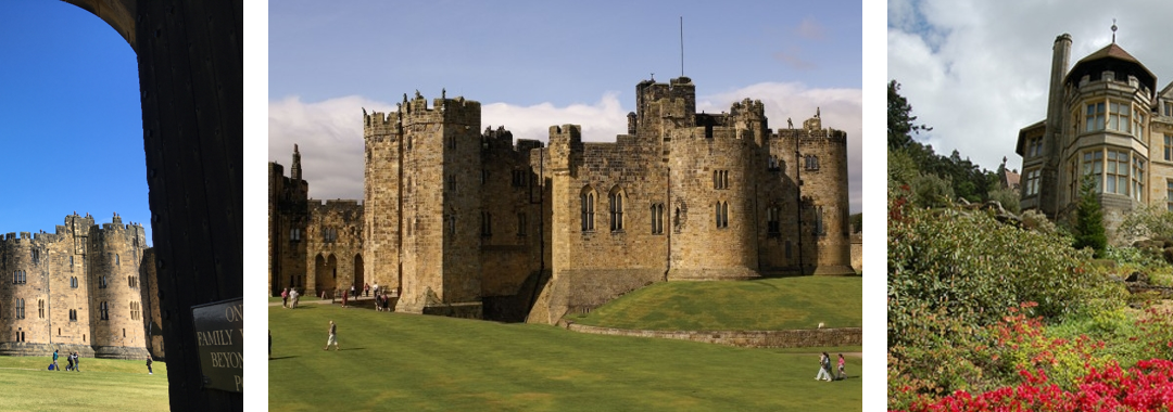 Alnwick Castle and Cragside